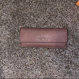 Blush pink Michael Kors wallet